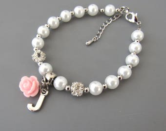 Flower Girl Gift • Childrens Personalized Bracelet • Flower Girl Bracelet • Personalized Flower Girl Gift • Childrens Jewelry• Kids Gift
