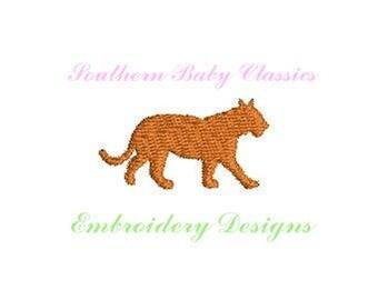 Tiger Silhouette Mini Fill Stitch  Design File for Embroidery Machine Instant Download Cute Baby Girl Boy