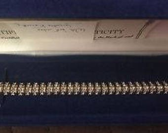 Jackie Kennedy Crystal Bracelet - 24K GP with Crystals, Box and COA - Sz 7 or 8