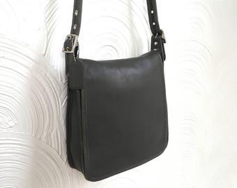 1990s Coach Gray Messenger Bag