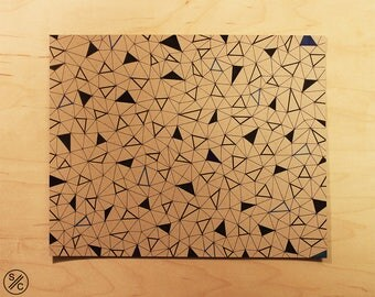 Triangulation | Original Geometric Ink Drawing