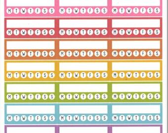 Pastel Habit Trackers || Planner Stickers