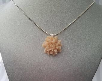 Cream Colored Flower Pendant