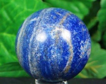 Lapis lazuli sphere hand carved  hand polished mineral specimen  320 Grams from Afghanistan