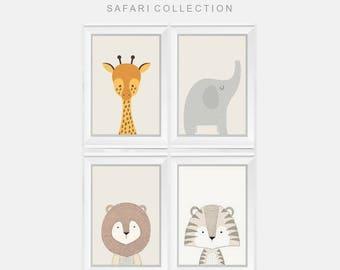 Safari Nursery Print, Safari Wall Art, Safari Nursery, Safari Nursery Decor, Jungle Animals, Safari Animals, Safari Theme