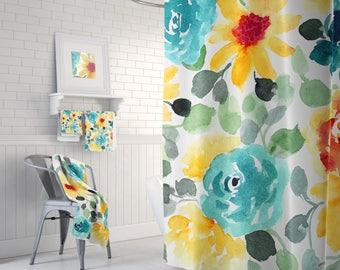 Bath Curtain, Bathroom Curtains, Shower Curtain, Bathroom Decor, Shower Curtains, Bathroom Curtain, Bath Decor, 71 x 74