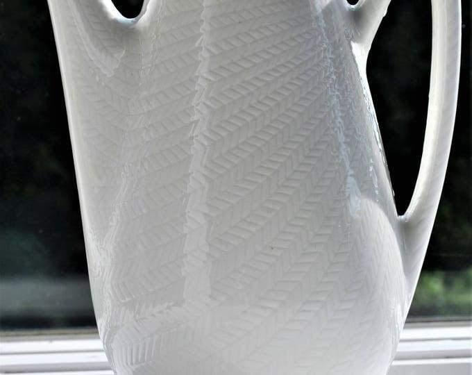 Rörstrand Bla Eld Coffee Pot White Hertha Bengtsson Swedish Mid Century Modern