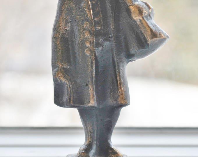 Swedish Art Metal Bronze Folk Figure Hunter Borås