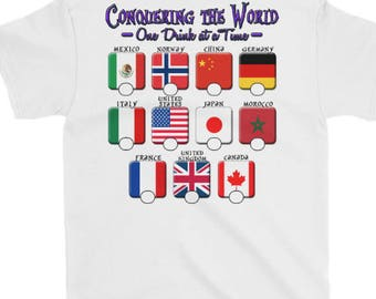 2018 WHITE Drinking Around the World T-Shirt