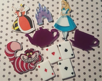 DIY kawaii deco kit Alice theme for cases and crafts