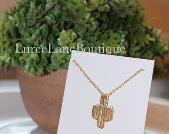 Cactus necklace/Cactus pendant/Dainty cactus/Bridesmaid necklace/Cacti pendant/Bridesmaid gift/Friendship necklace/Bridesmaid jewelry