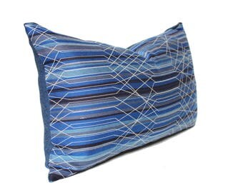 12x20 blue pillow cover, Linear pattern pillow cover, Prism Pipeline High End Stripe Blue, Paul Brayton designs