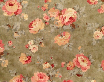 Mrs. March's Collection Antique Rose by Lecien, by the yard L276G