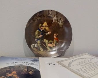 1990 Collectible Norman Rockwell The Old Scout, Rockwell Heritage Collection, Norman Rockwell plates