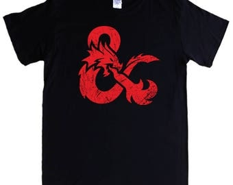 DUNGEONS & DRAGONS LOGO T-shirt S - 5XL rpg role playing game - Screen printed not transfer
