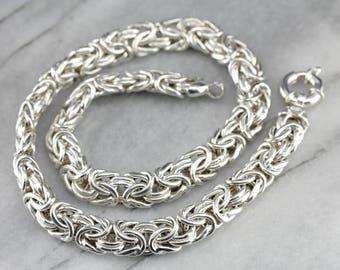 Heavy Sterling Silver Woven Chain, Sterling Silver Necklace, Modern Jewelry  24UNU7Y7-R