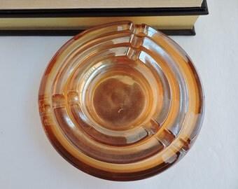 Orange Carnival Glass Ashtray Set of 3 | Vintage Graduated Ashtrays | Cigarette Holder Tobacciana | Coffee Table Decor | GreenTreeBoutique