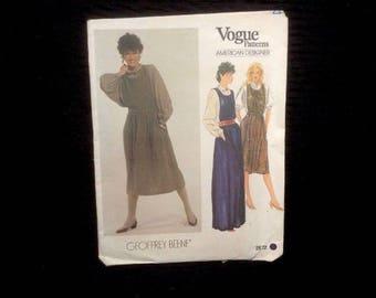 Vintage Vogue Sewing Pattern Uncut No. 2872 Dress Top Geoffrey Beene Sz 12
