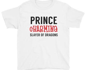 Prince Charming, Slayer of Dragons, Kids Youth Shirt