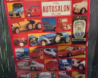 vintage autosalon poster 1986 Dutch de Bijenkorf