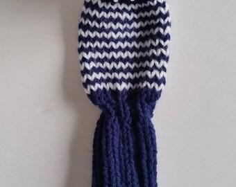 GOLF CLUB HEAD-Cover, Retro Hand Knit with Pom Pom Custom Colors, pom poms for No. 9 woods, fairway golf clubs
