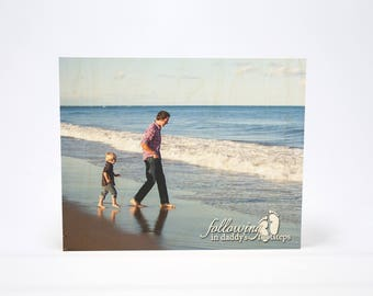 FATHER'S DAY PHOTO Gift: 7x7 Photo Block, Father, Papa, Dad, Personalized Photo Wood Block, Gift, Worlds Greatest Dad, Gift from Kid, Pop