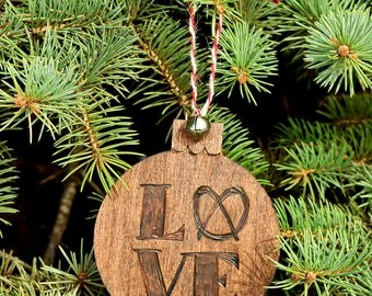 Philly Love Hand-Made Wood Ornament