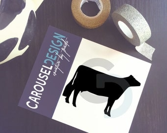 Dairy Cow Vinyl Sticker - Opt 2