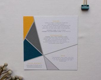 CHLOE // Wedding Stationery // Additional Info Card