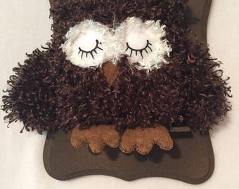 Stuffed Brown Owl /Mounted Owl
