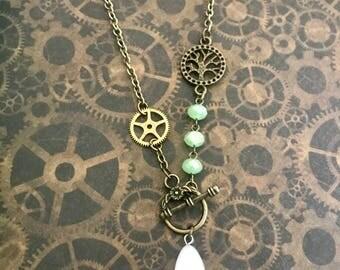 Art nouveau 5 steampunk necklace