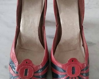 1930s Deco Leather Shoes