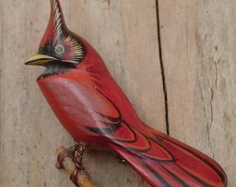 Vintage Cardinal bird brooch