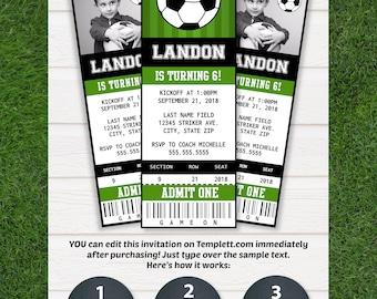 soccer invitations soccer ticket invitation soccer party soccer birthday invitation soccer party - Soccer Party Invitations
