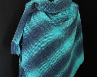 Hand Woven in the UK Shawl/Wrap. Wool with Acrylic Blend