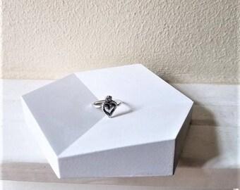 Geometric ring dish, simple wedding ring tray, hexagon dish, modern minimalist ring dish