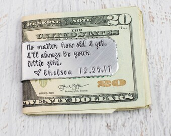 Personalized Money Clip, Custom Money Holder, Gift for Dad, Gift for Him, Engraved Money Clip, Money Holder for Dad, Gift for Boyfriend