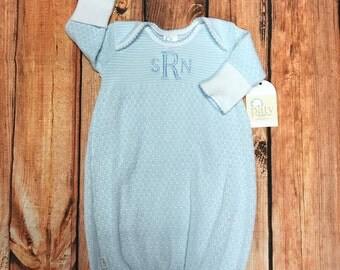 Monogrammed Paty Gown Great For Baby Showers And Newborns