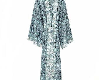 Kimono robe, cotton kimono robes, cotton robes, cotton kimono, full length cotton robe, long kimono, cotton kimonos, gift for her.