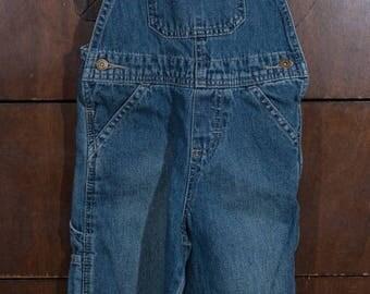Vintage Wrangler Overalls, Blue Denim, 2T Wrangler Overalls