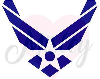 United States Air Force Emblem (No Text) SVG, PNG, and STUDIO3 Cut Files for Silhouette Cameo/Portrait and Cricut Explore DIY Craft Cutters