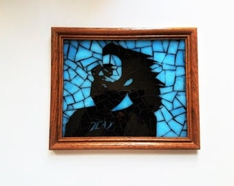 Jerry Garcia Egypt Unique Stained Glass Mosaic Picture, Grateful Dead Decor, Deadhead Gift Idea, Jam Band, Hippie Wall Art,Grateful Dead Art