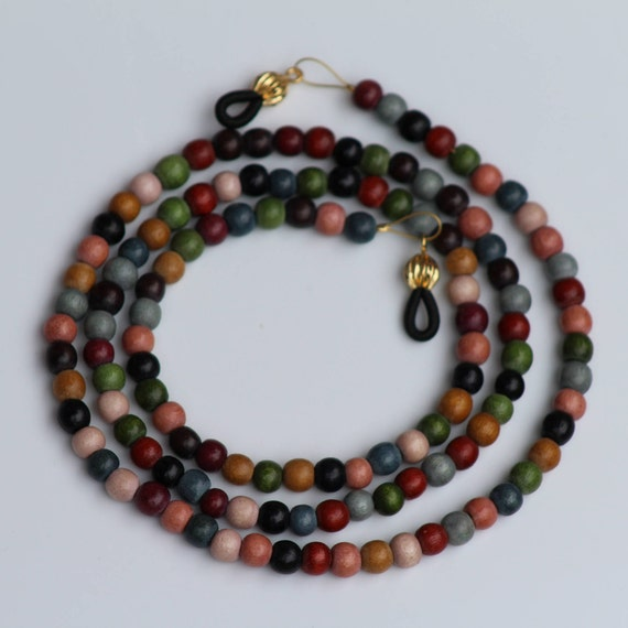 Earth Tone Eyeglass Chain, Fall Colors Accessory