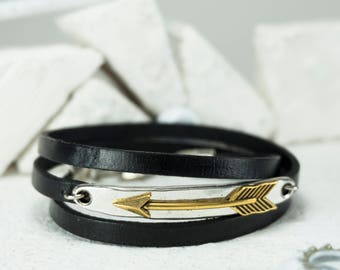 Men Bracelet - Men leather Bracelet - Men Jewelry - Men Gift - Boyfriend Gift - Husband Gift - Gift For Him - Men Leather Jewelry - Father