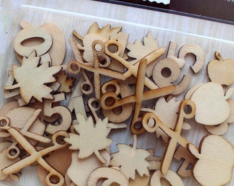 CLEARANCE! Studio Calico Wood Veneer Shapes School Icons