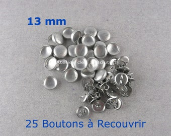 "25 Cover Buttons 1/2"" (Size 20)"