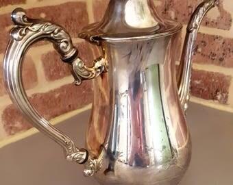 Vintage ornate silver plated tea pot