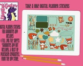 Take A Hike Digital Planner Sticker Sheets For use in Goodnotes App