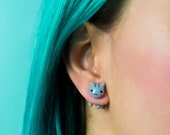 Misty Cat Earrings - Cat Earrigns Polymer Clay, Makes a Awesome Cat Earrings For Yourself Or Cat Lover Gift | Handmade & Handpainted