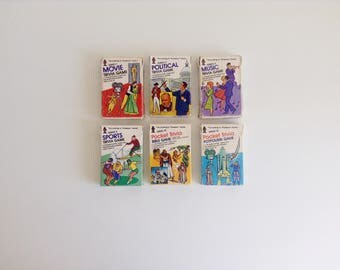 "6 Vintage, ""According to Professor Hoyle"" Pocket Trivia Games"